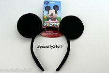 NEW DISNEY MICKEY MOUSE BLACK EAR SHAPED HEADBAND HAIR HEAD BAND CLUBHOUSE (SL)
