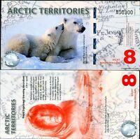 $25-50-100-250-500 2016 Animals Set UNC Arctic Territories Polymer