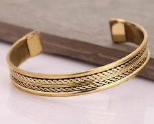 New Copper Bracelet Tibetan Bio Pain Relief Pattern Magnetic Bangle Unisex