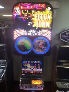 WMS BB3 STAND ALONE ELTON JOHN WORKING SLOT MACHINE. THIS IS A HARD TO FIND ONE.