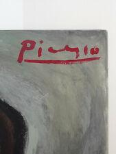 Pablo Picasso Original - Vintage Rare Portrait - Oil, Hand Signed, Not Print