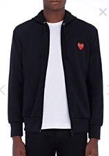 Comme des Garcons Black Full Zip Hoodie Nike Shirt  Xl Authentic $315