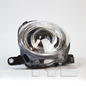 Headlight Front Lamp for 12-19 Fiat 500(w/o Logo) Projector Left Driver