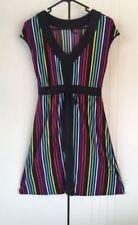Cotton Blend Stripes Regular Size Dresses for Women