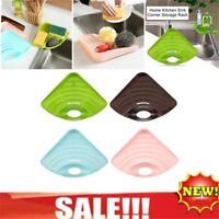Dish Brush Sponge Holder For Kitchen Sink Plastic Storage Basket Organizer Rack