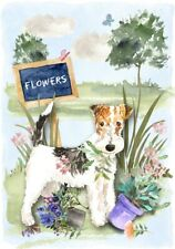"Wire Fox Terrier Dog (4"" x 6"") Blank Card/ Notelet Design By Starprint"