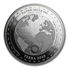 TERRA 2020 - $5 Dollars TOKELAU 2020 1 oz Silver Bullion coin