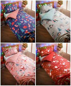 100% Polyester Kids Christmas Duvet Set Wonder To Your Little One's Bedroom New.