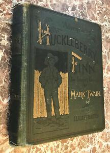Adventures of Huckleberry Finn, by Mark Twain 1888 First Edition ~Samuel Clemens