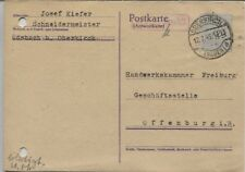 Local/barfrankatur überklebung redevances Mot 6 pf. Carte postale Oberkirch (b08043)