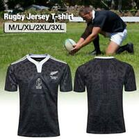 Men's New Zealand 100 Anniversary Commemorative Rugby Jersey Sports T-shirt Top