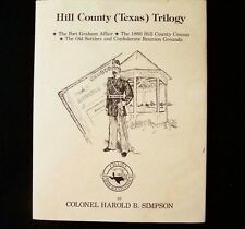 Signed, Limited,Hill County Texas Trilogy by Harold B. Simpson (1986, Hardcover)