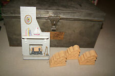 Vintage Dollhouse Doll Furniture Fireplace Barbie House Mantle Set Old Toy