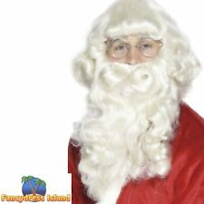Luxury Santa Beard White Father Christmas St Nick Mens Fancy Dress Accessory