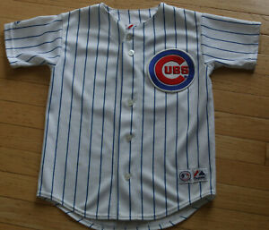 MAJESTIC * CHICAGO CUBS * KERRY WOOD #34 YOUTH MLB BASEBALL JERSEY ~ SEWN ~ S