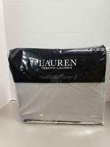 Ralph Lauren spencer cotton sateen 475 thread count 4-pc. solid Cal-king Grey