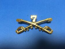 US 7TH CAVALRY CROSSED SABERS LARGE HAT PIN SUITABLE FOR STETSON HAT