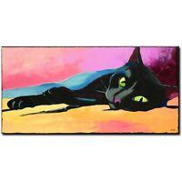 ORIGINAL Acryl Bild Gemälde Abstrakt Malerei Kunst Modern UNIKAT Art Tiere Katze