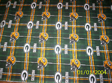 New NFL Officially Licensed Green Bay Packers Flannel Fabric by the 1/2 yard
