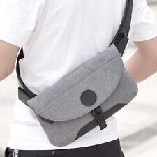 Men Nylon Small Casual Chest Bag Waterproof Handbag Crossbody Pack Cellphone Bag