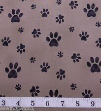 Paw Fabric Paws dog cat fat quarters 100% cotton brown STOF Fabric 4507 527