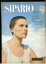 SIPARIO N. 165 GENNAIO 1969 RIVISTA TEATRO CINEMA SILVANA MANGANO CARLO TERRON