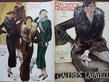 """CATALOGUE MODE """" DES GALERIES LAFAYETTE """" EXPOSITION GENERALE"""