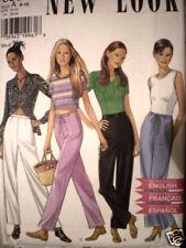 6592 Vintage NEW LOOK Sewing Pattern Misses Pants 6 8 10 12 16 UNCUT OOP SEW FF