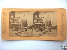 1800's WOODSTOVE, HAVE PATIENCE, DON'T SWEAR,STEREOVIEW