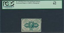 Fr1240 10¢ 1St Issue Fractional Currency Pcgs New 62 Hv7601