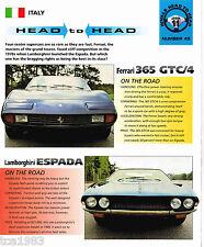 FERRARI 365 GTC/4 vs. Lamborghini ESPADA Road Test Brochure, GTC