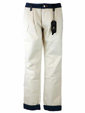 Tribeca New York Chino W 30 Westin beige und blauer Jeans denim con etichette
