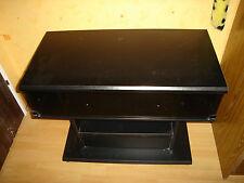 Meuble tv noir, niche rotative, tiroir...