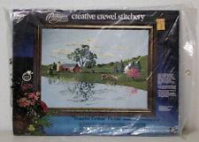 Vintage Peaceful Pasture Picture Paragon Creative Crewel Stitchery Kit New 1975