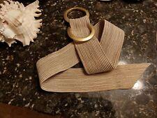 Vintage Carlisle Belt Gold Ribbed Cloth 40