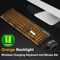 2.4GHz Wireless Rechargeable Silent LED Backlit Gaming Keyboard Mouse Combo N528