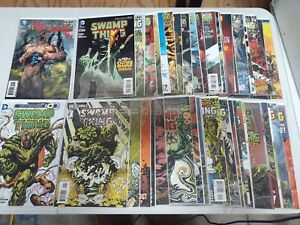 Swamp Thing New 52 complete set run #1-40 + Annual 1-3 VF/NM 2011 Signed #1