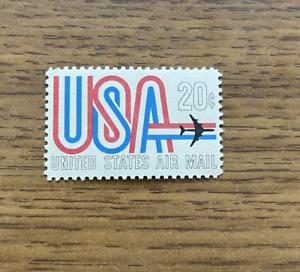 USA PLANE JET AIR MAIL 20 CENT VINTAGE 1969 STAMP MINT MNH