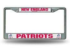 New England Patriots Chrome Metal License Plate Frame Tag Holder Throwback RETRO