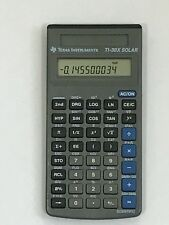 Vintage solar powered texas instrument calculators
