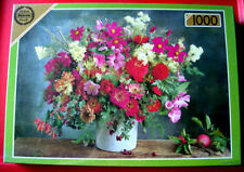 Falcon AUTUMN BOUQUET 1000 pc Jigsaw Puzzle NEW SEALED Flowers/Pink/White/Apple