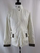 WELLENSTEYN Outdoor Hooded Cream-Beige Athletic Style Women's Jacket Size Small