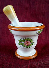 Mortaio con pestello in ceramica siciliana