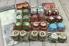 New listing 14 Sets Wilton & Others Christmas Mini Baking Cups100 Cups/Pkg 1400 Total New