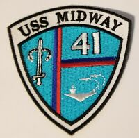 USS MIDWAY CV-41   PATCH  AIRCRAFT CARRIER 3 inch  patch