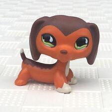 lps dachshund #675 Littlest Pet Shop Dog Dachshund Brown With Blue Eye no magnet