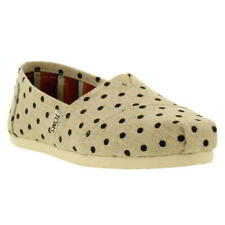 Toms Classics Canvas Womens Ladies Espadrille Slip On Shoes Size UK 3-10