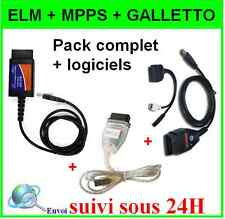 PACK INTERFACE REPROGRAMMATION OBD2 - ELM327 MPPS GALLETTO 1260 -  CALCULATEUR