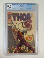 THOR #140 CGC 9.0 WHITE PAGES 1ST GROWING MAN