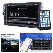 "12V 7"" 2 Din In-Dash HD Car SUV GPS Navigation Bluetooth Handfree MP3 Player FM"